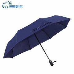 深圳雨伞厂家定做高档全自动三折折叠商务礼品广告伞