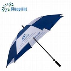 深圳雨傘廠家定做雙層直杆防風高爾夫傘30寸手開禮品傘