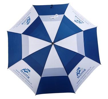 深圳雨伞厂家定做双层直杆防风高尔夫伞30寸手开礼品伞 2