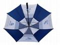 深圳雨伞厂家定做双层直杆防风高尔夫伞30寸手开礼品伞 3