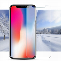 High Quality 2.5D HD Anti Scratch Tempered Glass Screen Protector for iPhone X