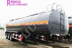 Factory price 3 axle 42000 litters oil tank semi trailer fuel oil tanker truck t
