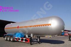 3 axle lpg transport tank trailer semi lpg truck trailers sale in China