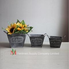 ganlvanized flower pot