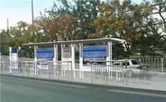 新型鄉鎮公交廣告候車亭