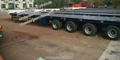 20 30 40 50 m Hydraulic axles Wind Turbine Blade Extendable flatbed Trailer