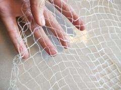 Plastic knotless monofilament anti bird control netting