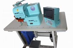 Seamless fusing glue film tape and trimming fabric bra making bonding machine
