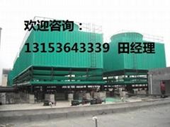 山東錦山方形逆流式低噪音玻璃鋼冷卻塔廠家直銷