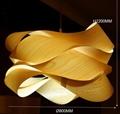 Hot design home decoration large luxury handmade wood pendant light 2