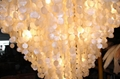 High quality large contemporary shell hotel lobby chandelier fixtures 4