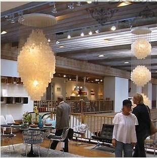 High quality large contemporary shell hotel lobby chandelier fixtures 1