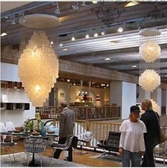 High quality large contemporary shell hotel lobby chandelier fixtures