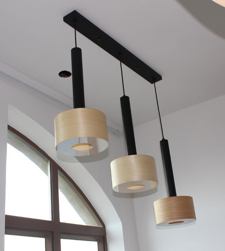 New style hotel decor indoor wooden chandelier pendant lamp fixtures 3