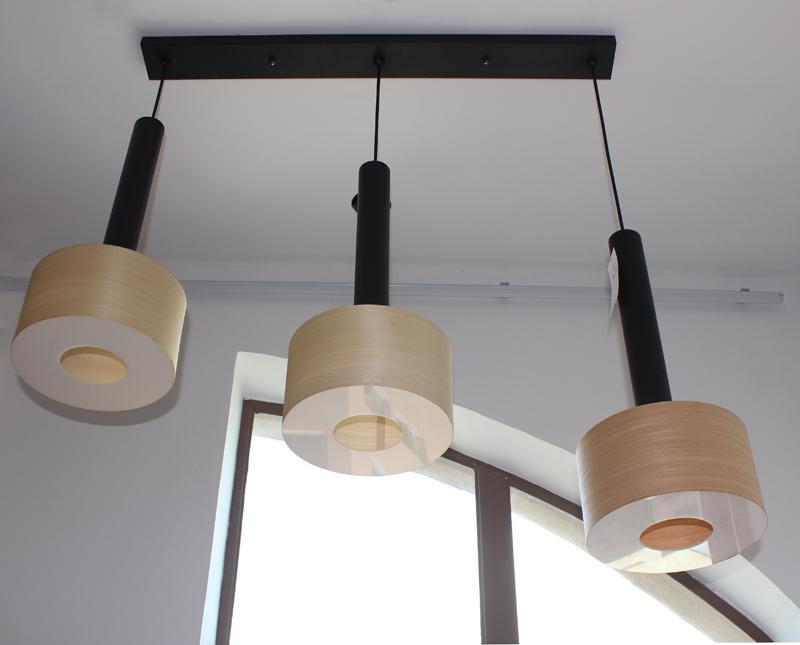 New style hotel decor indoor wooden chandelier pendant lamp fixtures 4