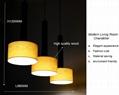 New style hotel decor indoor wooden chandelier pendant lamp fixtures 5