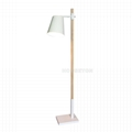 Simple design color changing industrial wooden reading floor lamp 2