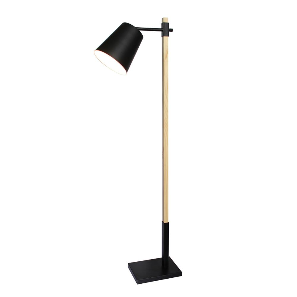 Simple design color changing industrial wooden reading floor lamp 3