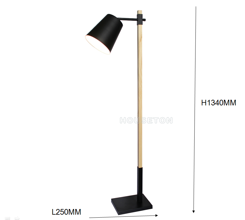 Simple design color changing industrial wooden reading floor lamp 4