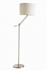 Hot sale modern fabric hotel standing flexible floor lamp shade