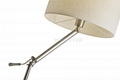 Hot sale modern fabric hotel standing flexible floor lamp shade 3