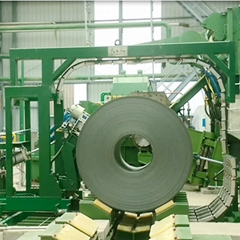 Notched Closure Joint Automatic Coil Circumferential Strapping Machine