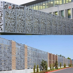 Artistic designed decorative perforated custom laser cut panel