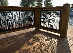 Exterior CNC laser cut panel Outdoor Aluminum decorative facades