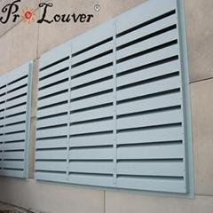 Noise control louver Acoustic louver Aerofoil blades louver
