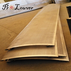 High quality assurance Aerowing sun louver  Perforated louver facades