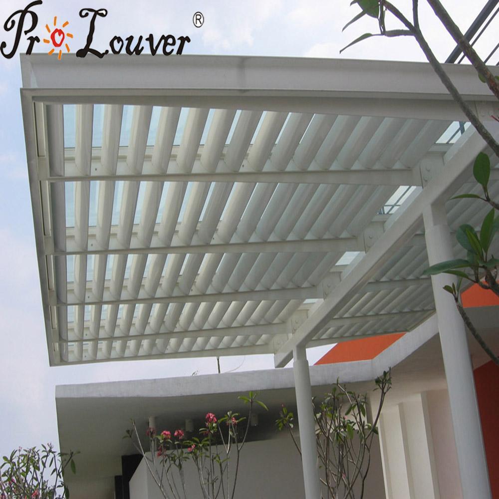 Aluminum roof remote control automatic roof louver waterproof pergola 1