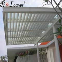 Aluminum roof remote control automatic roof louver waterproof pergola
