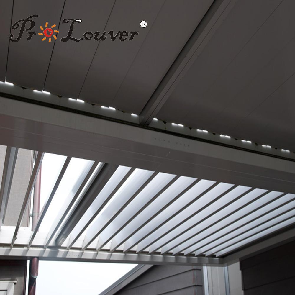 Waterproof louver Motorised Outdoor Aluminum Roof Louvers pergola roof 1