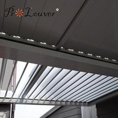 Waterproof louver Motorised Outdoor Aluminum Roof Louvers pergola roof