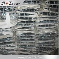 Aerofoil louver blades alunminum louvers