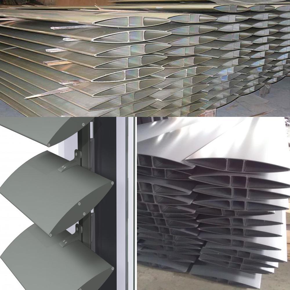 Aerofoil louver blades alunminum louvers 2