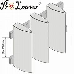 Aerobrise architectural exterior aluminum louvers