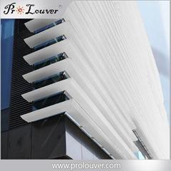 Outdoor aluminum window louver Aerofoil louver blades