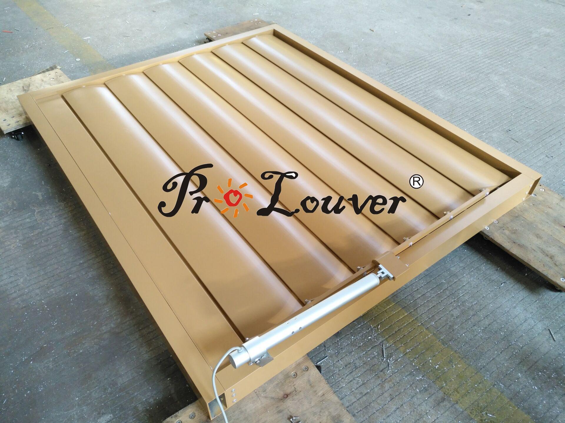 aluminum motorized louver Motorized louver window Aerofoil Motorized louver 2