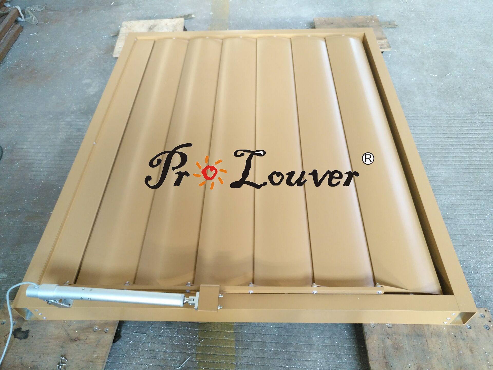 aluminum motorized louver Motorized louver window Aerofoil Motorized louver 3