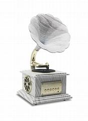 Bluetooth audio connected Mini phonograh, loudspeaker