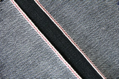 16.8Oz Black Selvedge Denim Fabrics Stock W9308