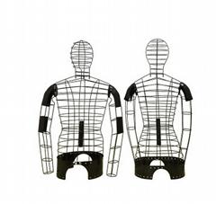 铁线半身男女模特道具