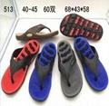 Wholesale cheap unisex black eva flip flops