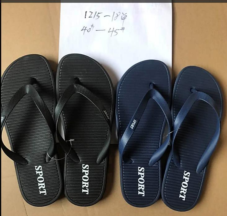 Chinese new design men slippers pvc sandals custom flip flops  1
