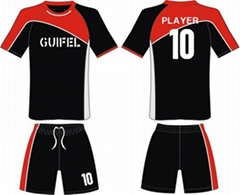 Customized newest design sublimation sportswear Dry Fit Polyester soccer jersey