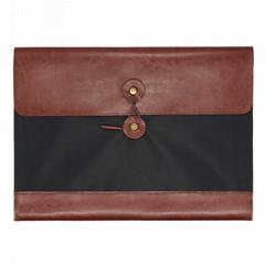 A4皮革复古文件袋