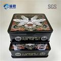classical rectangular metal tin CD case