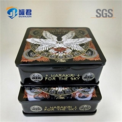 classical rectangular metal tin CD case