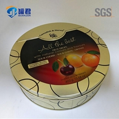 popular food storage round gift candy metal tin box